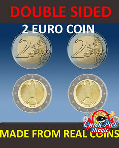 Recto-Verso 2 Euro Pièce de Monnaie [2 ] Double Tête 2 / Faces 2