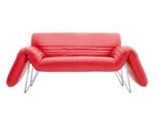 De Sede Sofa Lounge Chair Wilfried Totzek 1988 in rotem Leder Leather 80s