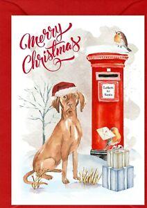 "Hungarian Vizsla Dog A6 (4"" x 6"") Christmas Card (Blank inside) by Starprint"