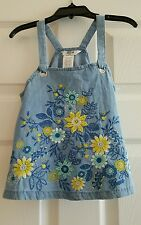 NWT GIRLS GUESS KIDS EMBROIDERED DENIM TANK SIZE 5 $42