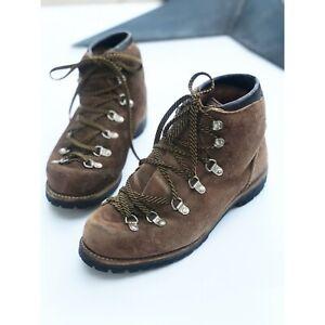 Voyageur/Vasque Vintage Brown Suede Hiking Boots 8m Mountaineering