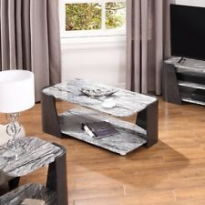 Sorrento Grey Marble Top Coffee Table