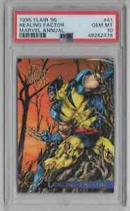 1995 Flair '95 Marvel Annual #41 Healing Factor - PSA 10 GEM MT - Wolverine