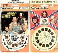 The Dukes of Hazzard #1 and #2  3d View-Master 3 Reel Packets NIP Sealed NEW