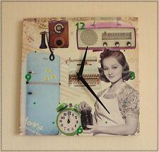 Wanduhr JANE im Fifties Stil Retro 50er Jahre Küchenuhr Uhr Oldscool NEU