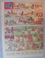 Mickey Mouse Sunday Page by Walt Disney from 10/13/1940 Tabloid Page Size