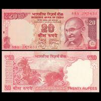 India 20 Rupees, 2012, P-103 New, UNC
