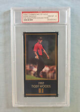 1998 1997 Champions Of Golf Masters Collection Tiger Woods ROOKIE RC NM-MT PSA 8