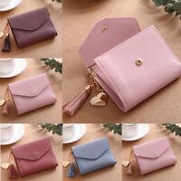 Fashion Women Mini Tassel Wallet Card Holder Clutch Coin Purse Leather Handbag