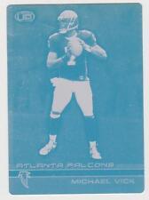 1/1 MICHAEL VICK ROOKIE 2001 ATLANTA FALCONS Printing Press Plate 1 of 1 RC