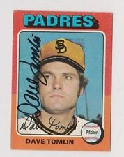 1975 Topps Dave Tomlin San Diego Padres Autographed Baseball Card