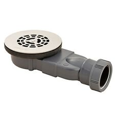WIRQUIN EXTRA FLAT 25MM WATERLESS SS GRID SHOWER TRAP FOR 90MM SLIM TRAY