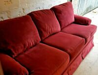 Thomasville Sofa Couch 3 Seat Red Sofa MINT Condition