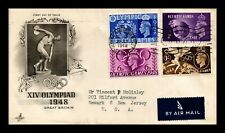 DR JIM STAMPS XIV LONDON OLYMPIC GAMES FIRST DAY ISSUE UNITED KINGDOM COVER