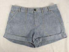 Gap Size 4 8 Shorts Chambray Blue Cotton Turn Cuffs Belt Loops Style 140452