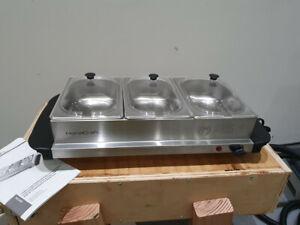 HomeCraft BS15SS Buffet Server & Warming Tray,1.5 qt., Stainless Steel