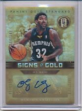 2011/12 PANINI GOLD STANDARD O. J. MAYO 004/149 SIGNS OF GOLD AUTOGRAPH