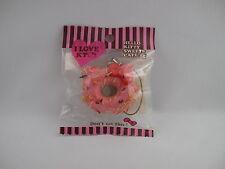 Hello Kitty Soft Doughnut  SQUISHY strap mascot phone strawberry colorful spray