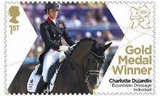 UK Team GB Gold Medal Winner Single Stamp - Charlotte Dujardin MNH 2012