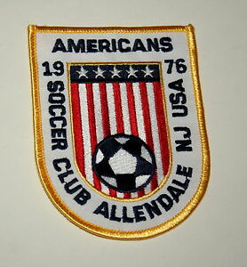 2 Soccer Club 1976 Americans Team Allendale New Jersey Patch New NOS 1990s