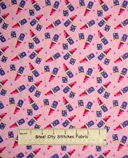 Girl Pink Lipstick Make Up Lip Stick Toss  Dear Stella 112 Cotton Fabric YARD