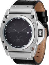***NEW IN BOX*** Vestal Decibel Silver Black Matte Wrist Watch DEC004