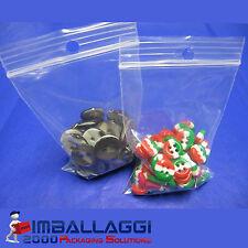 """10.000 X /"""" 6 x 9/"""" ** bianco pannello ** ZIP Resealable Plastica Grip Seal Sacchetti"""