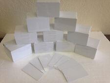 1000 x CR80 .30 Mil Graphic Quality Blank White PVC Credit Card ID Printer Seal