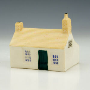 W.H. Goss Crested China - First & Last House In England - Cottage Figure
