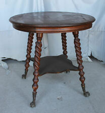 Oak antique tables 1900 1950 for sale ebay antique quarter sawn oak parlor lamp table claw ball feet aloadofball Gallery