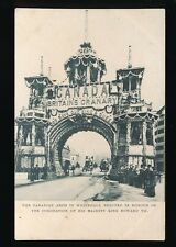 London WHITEHALL royalty Canadian Arch Coronation KE7 u/b PPC Tuck series G67