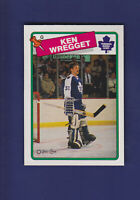 Ken Wregget 1988-89 O-PEE-CHEE OPC Hockey #264 (NM) Toronto Maple Leafs