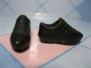 "I Can Be a Soccer Baseball Coach Barbie Doll Clothes: BLACK ""B"" CleatS ShoeS EXC"