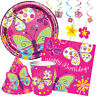 BUTTERFLY SPARKLE Birthday Party Range - Girl - Tableware Decorations Supplies