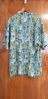 Authentic BIG DOG'S MENS LRG HAWAIIAN SHIRT SURFER TIKI