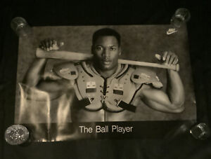 "Vintage BO JACKSON - NIKE ""THE BALL PLAYER"" Original 1988 24"" x 36"" Poster"