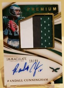 2020 Immaculate Randall Cunningham 3 Color Patch Auto Autograph 18/49 Eagles!!