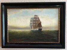 Alfred Jensen 1859-1935~Stille Abendstimmung in der Ostsee~Original Öl