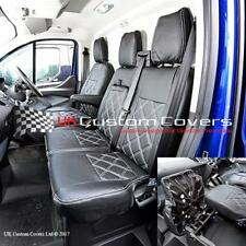 FORD TRANSIT CUSTOM - LEATHER LOOK FRONT SEAT COVERS 2013 ON 237