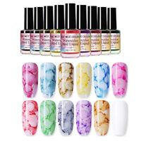 NICOLE DIARY 15ml Watercolor Ink Blossom Nail Polish Clear Top Nail Art