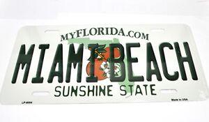 USA Florida Miami Beach Auto Nummernschild License Plate Deko Blechschild