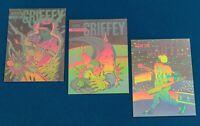 Ken Griffey Jr. #2,3,4 (1992 Arena Holograms) 3 Card Lot, Seattle Mariners, HOF
