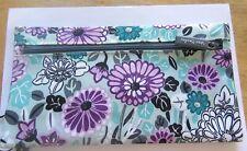Vera Bradley  Lighten Up Penelope's Garden Pencil Pouch-2 zipped sections-floral