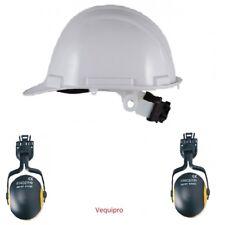 Casque de chantier en ABS serrage crémaillère avec anti-bruit 23db