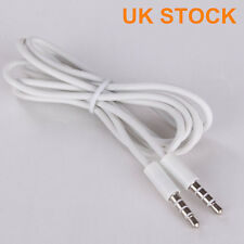 1M 3.5mm Jack Headphone Earphone Socket Extension Stereo White Audio Cable Lead