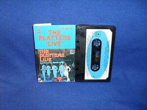 THE PLATTERS LIVE - RARE AUSTRALIAN CASSETTE TAPE NM