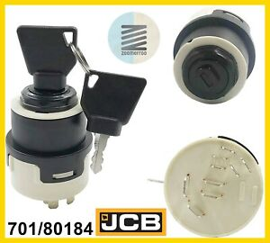 JCB IGNITION SWITCH WITH 2 KEYS (PART NO. 701/80184)