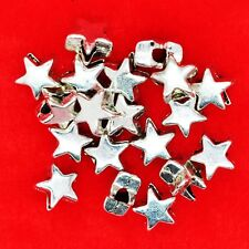 50 x Tibétain Ton argent 6 mm Star Spacer Beads Findings Pour Bracelets Colliers