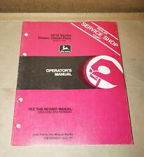 1984 John Deere 1610 Series Drawn Chisel Plow Operator's Manual Om-N200034