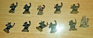 10 PAINTED Ral Partha NinjaS: 25mm METAL Miniatures DUNGEON  DRAGONS PATHFINDER